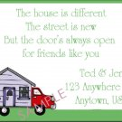 Just Moved Moving Announcements Personalized Cards Moving Truck With House