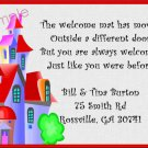 Just Moved Moving Announcement Personalized Cards Cute Colorful House