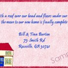 Just Moved Moving Announcements Peronalized Cards Cute House