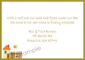 Just Moved Moving Announcements Personalized Cards Cute House With Basket Weave Trim