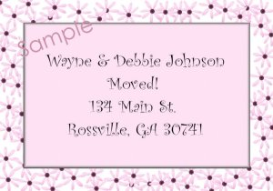 Just Moved Moving Announcements Personalized Cards With Flower Trim