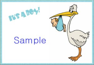 New Baby Birth Announcements Personalized It's A Boy With Stork