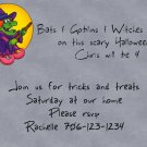 birthday invitations haloween theme witch personalized