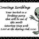 birthday invitations personalized alien