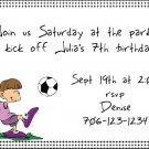 Soccer girl invitation