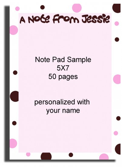 Personalized Polka-dottted note pad