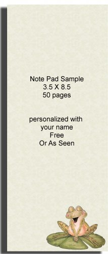 Frog Note Pad Personalized