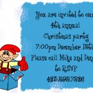 Elf surprise christmas invitation