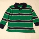 Children's Place Toddler Boys, Size 2T,  Blue/White/Green Striped, Long Sleeve