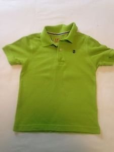 Izod, Toddler Boys, Shirt, Size  4-5, Green w/ Navy Blue Emblem, Short Sleeve