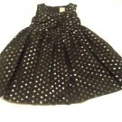 Gymboree, Infant Girts, Dress, Size 18- 24 months, Black/Silver Polka Dot, Lined