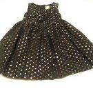 Gymboree, Infant Girts, Dress, Size 18- 24 months, Black/Silver Polka Dot, Lined
