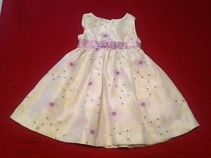 Nanette, Infant Girls, Dress Size 18 months Tall, White/Lavender/Green Floral