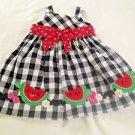 Good Lad,  Infant  Dress,  Size 12 months, Black/White Plaid, Red coordinates
