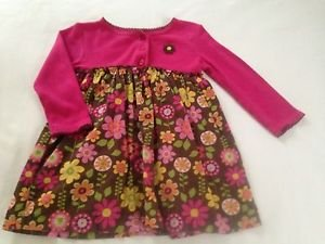 Carter's Infant Girts, Dress, Size 18 months, Pink w/ Pastel Floral Print