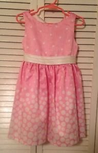 Easter, Bonnie Jean Toddler Girts, Dress Size 3T,  Pink/White Polka Dot Print