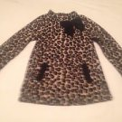 Polly Flinders Toddler Girls, Dress,  Size 4T, Black/Tan Animal Print,Bow Accent