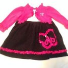 Youngland,  Infant Girts, Dress, Size 18 months, Black/White/Pink, Quality Piece