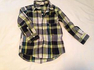 Crazy 8Toddler Boys, Shirt, Size  ,Gray/Green/White Plaid, Long Sleeve