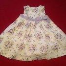 Gymboree, Infant Girls, Dress Size 18 -months, White/Lavender/Green Floral
