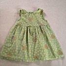 Circo, nfant Dress  Size 9 months,  Green w/ Yellow/White/Pink Floral Print