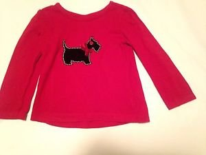 Children's Place,  Blouse, Size 3T, Red with Dog Print Design