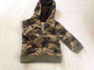 Garanimals, Infant Boys, Jacket/Hoodie, Size 3-6 months, Green camouflage