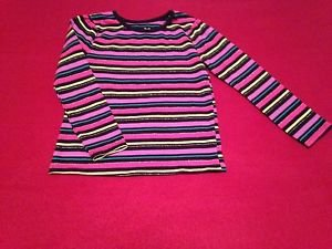 Garanimals, Blouse,Shirt, Size 4T, Pastel Stiped w/ Black Trim