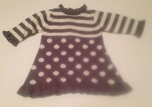 The Children's Place,  Infant Girts,   Dress, Size 0-3 months, Gray/White Print