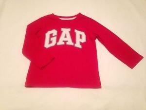 BabyGap Toddler Boys, Shirt, Size 4 years, Red w/ White Gray Trim