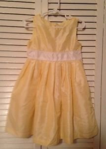 Perfectly Dressed  Infant Girts, Dress, Size 24 months, Yellow/White Floral