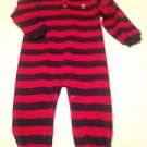 Carter's  infant Boys,one Piece, Size 24 mos, Blue/Red Striped, Taupe Emblem