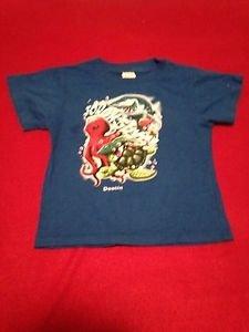 "Kid Tees by Stephen Joseph, Blue Graphic  ""Destin""  T Shirt Kids Boys, Size  2T"