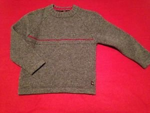 Red Zebra, Toddler Boys, Sweater, Size 6, Gray with Red Strip,  Quality
