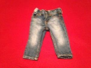 B'Gosh,Infant Girls, Jeans Size 6 months Blue Denim,Straight leg,Distressed
