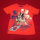 Ed Hardy Orange Graphic Tattoo Tee T Shirt Kids Boys, Size  4T