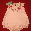 First Impressions, Infant Girls, One Piece, 12 months, Pink w/ silver trim neckl