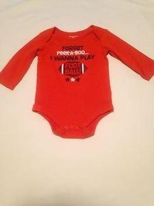 "Garanimals , Infant Boys, One Piece, Shirt ""football"" the Size 18 months, Orange"