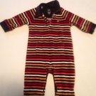 Bapy Gap, Infant Boys Size 3-6 months Brown/Multi-color striped andTaupe Emblem