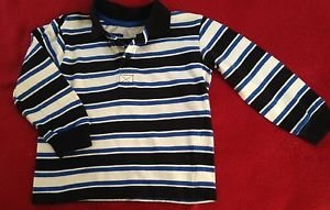 WonderKid, Infant Boys, Size 24 months, Blue/White Striped, Long Sleeves