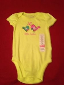 "Jumping Beans, Infant Girls, One Piece, 24 months, Yellow w Birds ""little sister"