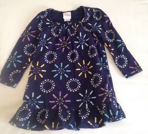 Circo  Infant Girts, Dress, Size 18 months, Navy Blue w/ Pastel Geometric design