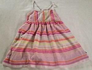 Nautica,  Infant  Dress,  Size 24 months, White Pastel Striped,Blue emblem