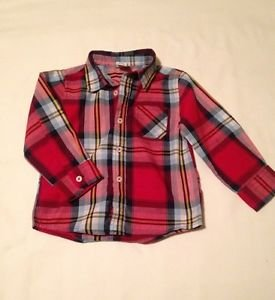 Healthtex, Infant Boys, Size 24 months, Red/Blue/White/Yellow Plaid, Button Down