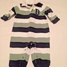 Gymboree,  One Piece, 3-6 months,, Blue/White/Green Striped