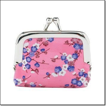 NEW FASHION! Very Cute! Asian Floral Printed Pixie Mini Coin Purse