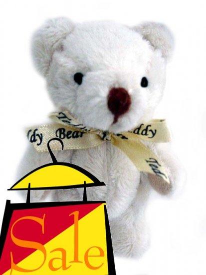 "NICE! 3.5"" Magnetic Teddy Bear with a Teddy-Bear-Imprinted-Ribbon"
