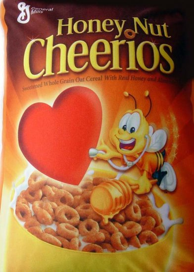 """Offically Licensed Product: 10"""" x 14"""" Squishy Honey Nut Cheerios Pillow"""
