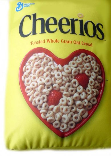 "Offically Licensed Product: 10"" x 14"" Squishy Cheerios Pillow"