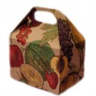Ecofriendly Fruits-Imprinted Gable Paper Gift Box